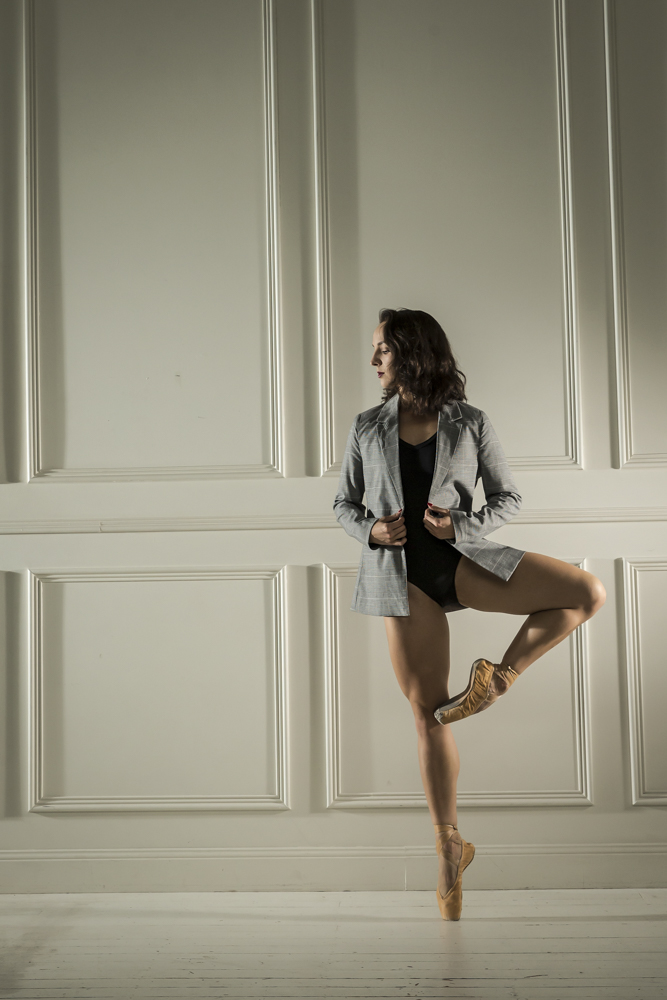 Arina on Pointe in the Studio